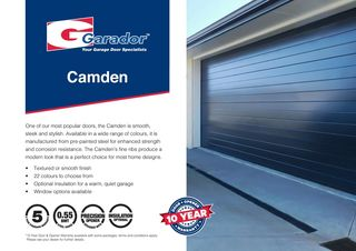 Camden™ - Horizontal Rib Sectional Door