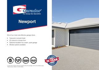 Newport™ - Horizontal Rib Sectional Door