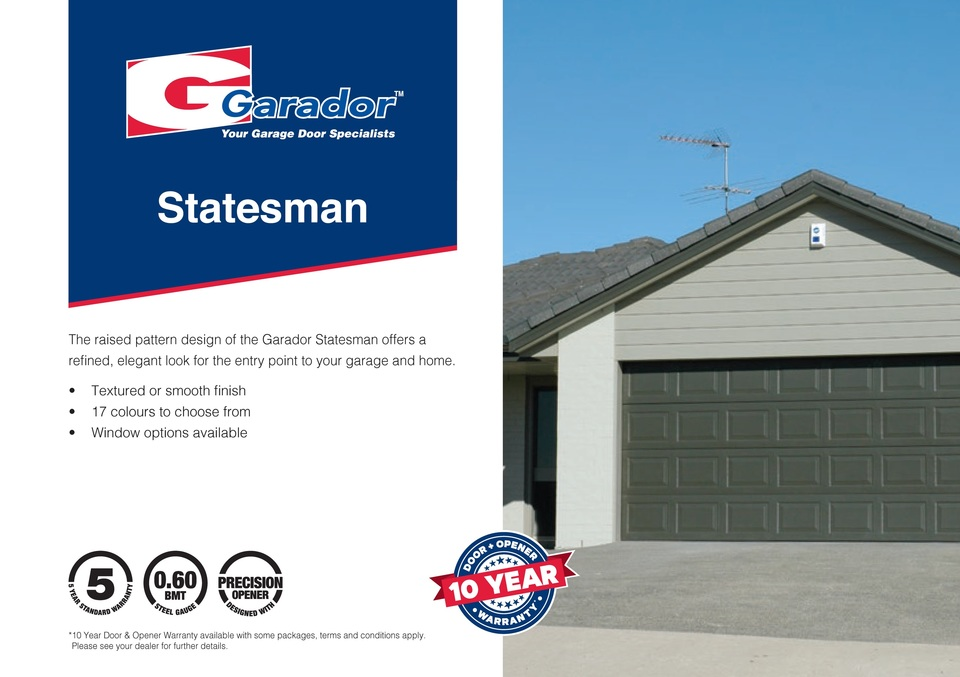 Statesman™ - Pressed Panel Sectional Door