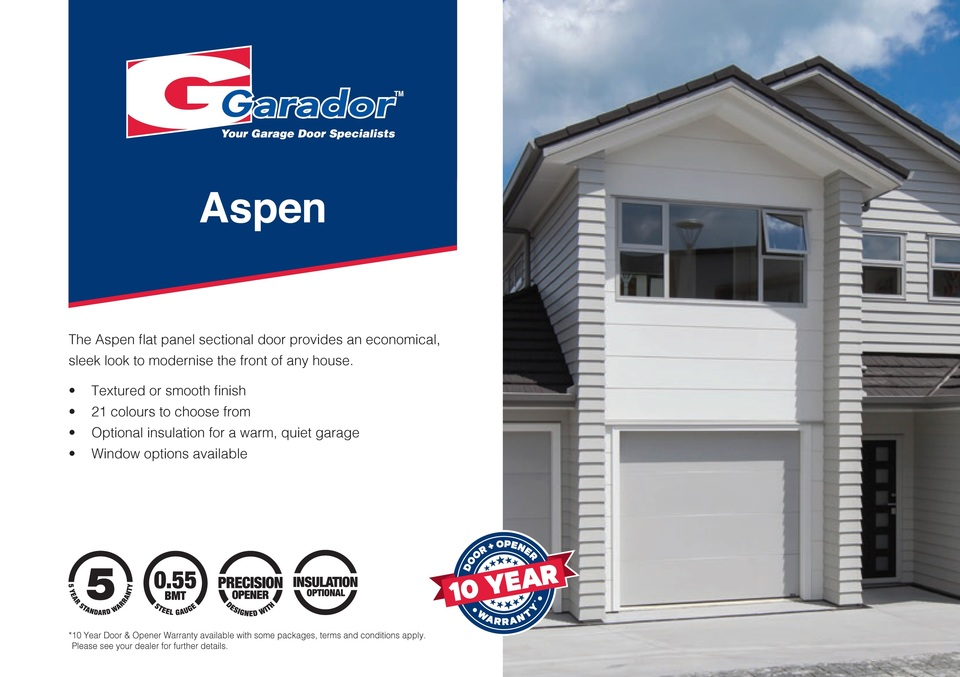 Aspen™ - Flat Panel Sectional Door