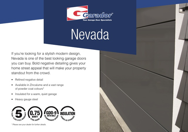 Nevada - Negative Detail Sectional Door