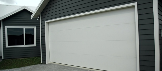 Sierra Flat Panel Sectional Door Waikato Door